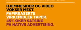 Fortsetter å satse spesielt på hjemmesider og video i innholdsmarkedsføring